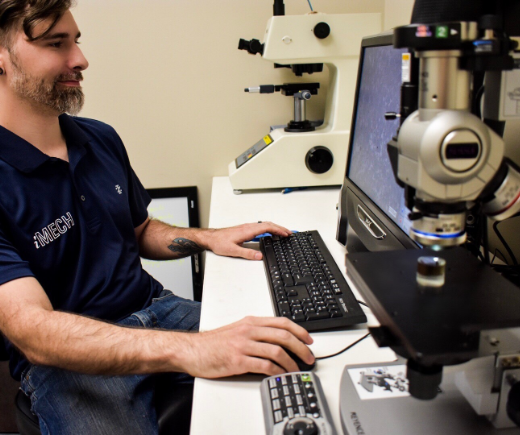 Optical microscopy helps evaluate structural integrity